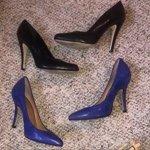 All black & blue Aldo heels